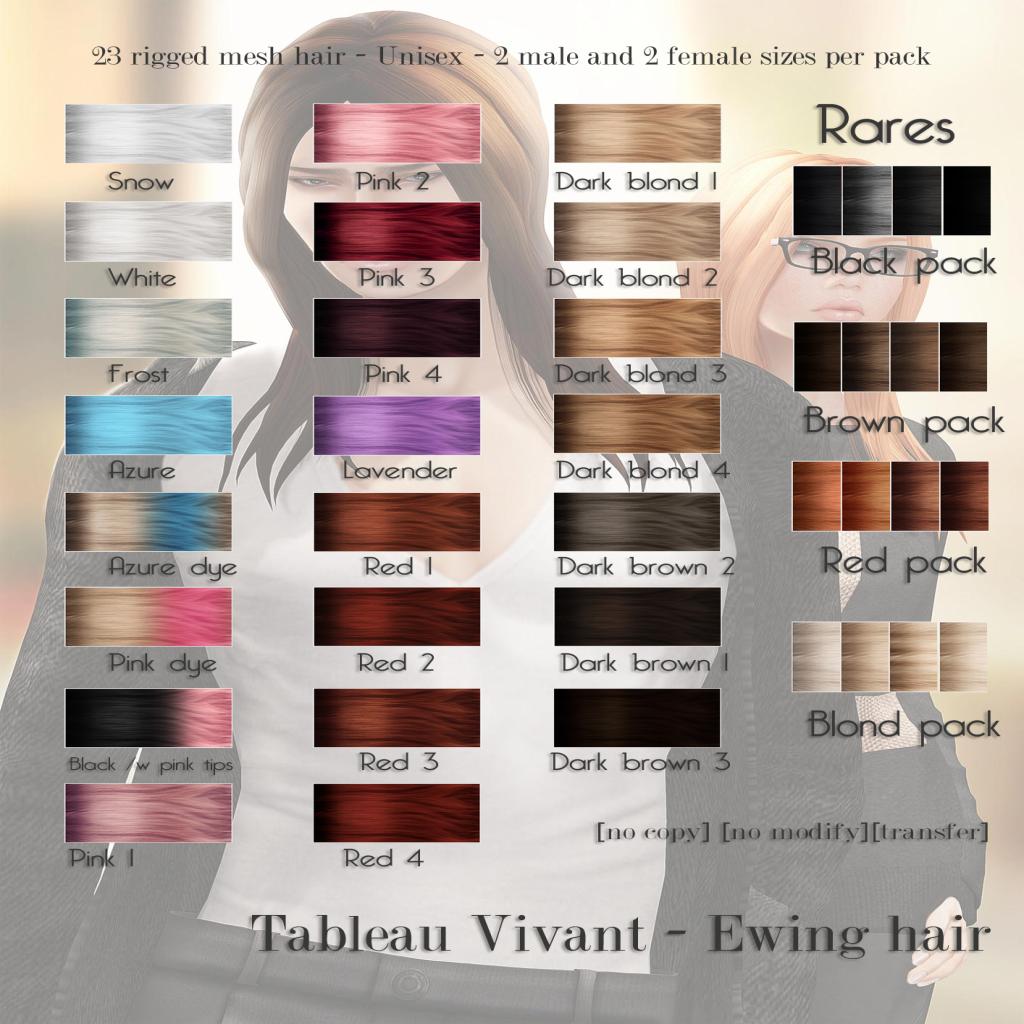 Tableau Vivant Ewing Hair Color Chart Tableau Vivant